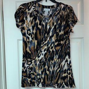 Cheetah Dressbarn Top